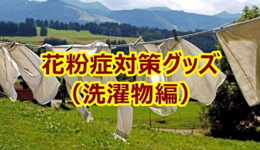 洗濯物を干すときのおすすめ花粉対策グッズを5つ紹介【症状が和らぐ】